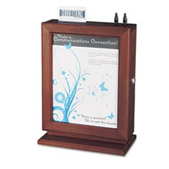 Customizable Wood Suggestion Box, 10 1/2 x 5 3/4 x 14 1/2, Mahogany