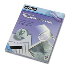 Transparency Film for Laser Devices, Letter, Clear, 50/Box