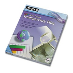 Color Laser Transparency Film, Letter, Clear, 50/Box
