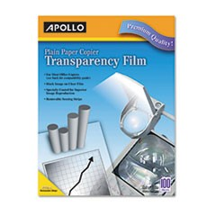 Plain Paper Transparency Film for Laser Devices, Removable Stripe, Clear, 100/BX