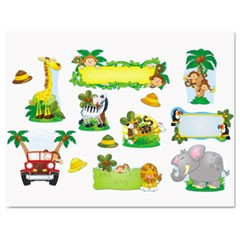 Jungle Safari Bulletin Board Set, Various Animals, Assorted Colors