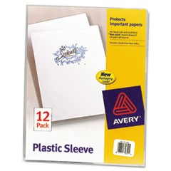 Clear Plastic Sleeves, Polypropylene, Letter, 12/Pack