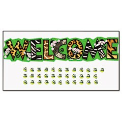 "Monkey Mischief ""Welcome"" Bulletin Board Set, 81 x 18, 38 Pieces"