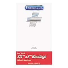 "XPRESS First Aid Kit Refill, Bandages, 3/4"" x 3"" Plastic, 50/Box"
