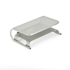 "Metal Desktop Printer/Monitor Stand, 18 1/2"" x 12"" x 5 3/4"", Pewter"