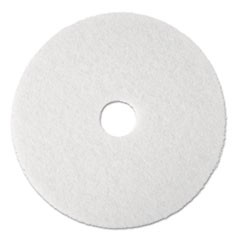 "Standard Floor Pads, 19"" Diameter, White, 5/Carton"