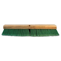 "Push Broom Head, 3"" Green Flagged Recycled PET Plastic, 24"""
