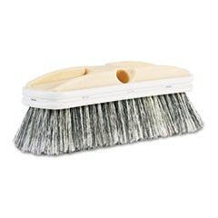 "Polystyrene Vehicle Brush w/Vinyl Bumper, 2 1/2"" Bristles, 10"" Brush"