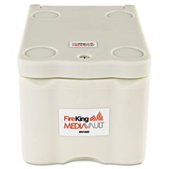 MediaVault, 0.2 cu. ft, 11 5/8 x 17 1/2 x 10 1/2, UL Listed 125� for Fire, White