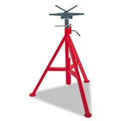 "VJ-98 Low Pipe Stand, 20"" to 38"" High, Red"