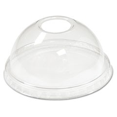 Cold Cup Dome Lids, 5-20oz Cups, Clear, 75/Sleeve, 12 Sleeves/Carton
