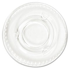 Portion Cup Lids, .5-1oz Cups, Clear, 100/Sleeve, 25 Sleeves/Carton