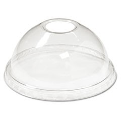 Cold Cup Dome Lids, 12-24oz Cups, Clear, 75/Sleeve, 12 Sleeves/Carton