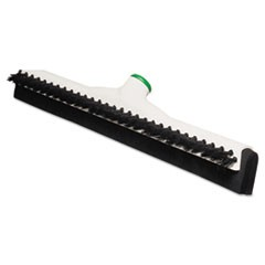 "Sanitary Brush w/Squeegee, 18"" Brush, Moss Handle"
