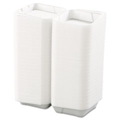Snap-it Foam Hinged Lid Containers, 1-Comp, 8 x 8 x 3, White, 200/Carton