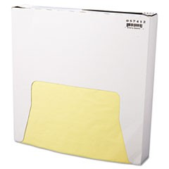 Grease-Resistant Wrap/Liner, 12 x 12, Yellow, 1000/Box, 5 Boxes/Carton