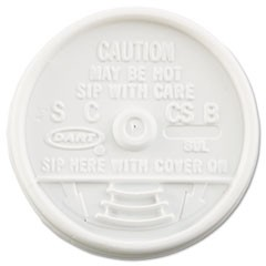 Sip Thru Lids, Fits 6-10oz Cups, White, 1000/Carton