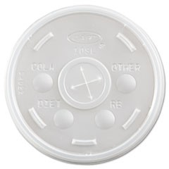 Plastic Cold Cup Lids, Fits 10oz Cups, Translucent, 1000/Carton