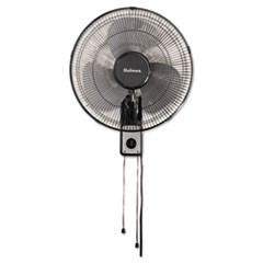 "16"" Wall Mount Fan, 3-Speed, Metal, Black"