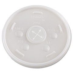 Plastic Cold Cup Lids, 24oz, Translucent, 500/Carton