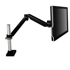 Easy-Adjust Monitor Arm, 4 1/2 x 25 1/2, Black Gray
