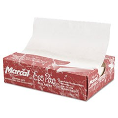 "Eco-Pac Natural Interfolded Dry Wax Paper, 8"" x 10.75"", 500/Box, 12 Boxes/Carton"