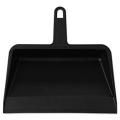 Value-Plus Polypropylene Dust Pan, 11 1/2w x 11d x 4h, Black, 12/Carton