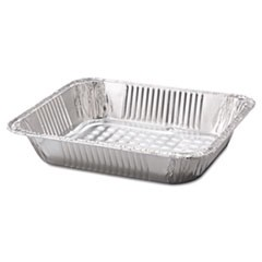 "Steam Table Aluminum Pan, Half-Size, 2 9/16"" Deep, 100/Carton"