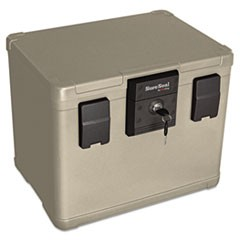 Fire and Waterproof Chest, 0.60 cu. ft., 16w x 12 1/2d x 13h, Taupe