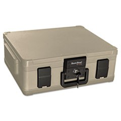 Fire and Waterproof Chest, 0.38 cu. ft., 19 9/10w x 17d x 7 3/10h, Taupe