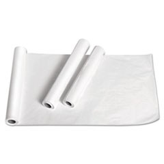 "Exam Table Paper, Deluxe Crepe, 18"" x 125ft, White, 12 Rolls/Carton"