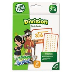LeapFrog Flash Cards, Division, 4 3/4 x 6, 55 Cards
