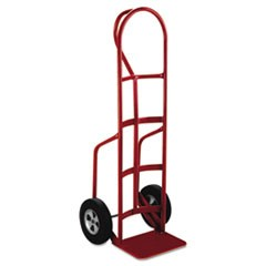 Heavy-Duty Hand Truck, P Handle, Solid Rubber Wheels