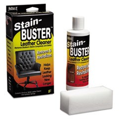 "ReStor-It Stain-Buster Leather Cleaner, 8 oz Bottle, 2"" x 6 3/4"" Pad"