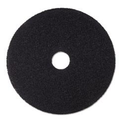 "Low-Speed Stripper Floor Pad 7200, 18"" Diameter, Black, 5/Carton"