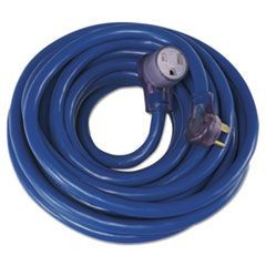 Welder Extension Cord, AWG 8/3, 50ft, 40A, Blue, Lit End