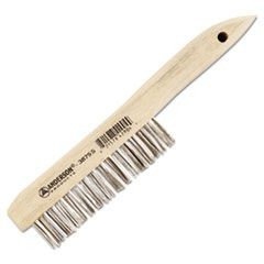 Stainless Steel Shoe Handle Brush, 4 x 16 Bristle-Row Configuration