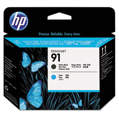 HP 91, (C9460A) Matte Black/Cyan Printhead
