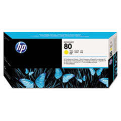 HP 80, (C4823A) Yellow Printhead & Cleaner