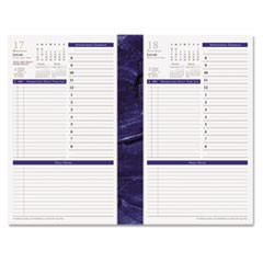 Monticello Dated One-Page-per-Day Planner Refill, 5 1/2 x 8 1/2, 2017