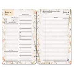 Blooms Dated Daily Planner Refill, January-December, 4 3/4 x 6 3/4, 2017