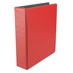 "Economy Non-View Round Ring Binder, 2"" Capacity, Red"