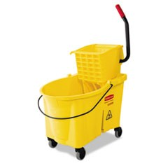 WaveBrake 44 Quart Bucket/Sideward Pressure Wringer Combination, Yellow
