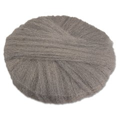 Radial Steel Wool Pads, Grade 0 (fine): Cleaning & Polishing, 17 in Dia, Gray