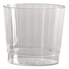 Classic Crystal Plastic Rocks Tumblers, 9 oz., Clear, Fluted, Squat, 12/Pack