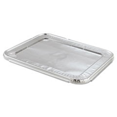 Steam Table Pan Foil Lid, Fits Half-Size Pan, 12 13/16 x 10 7/16, 100/Carton