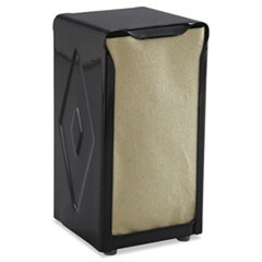 Tabletop Napkin Dispenser, Tall Fold, 3 3/4 x 4 x 7 1/2, Capacity: 150, Black