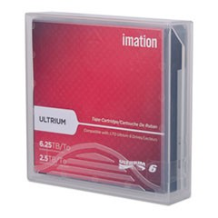 "1/2"" Ultrium LTO-6 Cartridge, 2538 ft, 2.5TB Native/6.25TB Compressed"