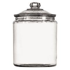 Heritage Hill Glass Jar With Lid, 2 gal, Clear, Glass Lid