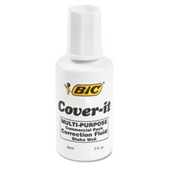 Cover-It Correction Fluid, 20 ml Bottle, White